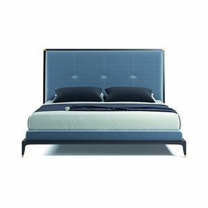 Delano bed, Bed with high padded headboard