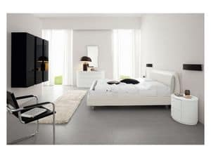 Picture of Eros 96, classic style leather beds