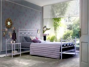 Incanto 140, Single bed in metal, for Classic bedroom