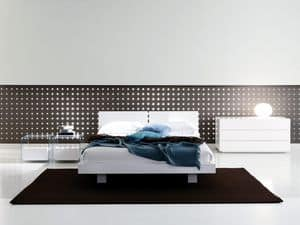 Lever B, Design double bed, light volumes