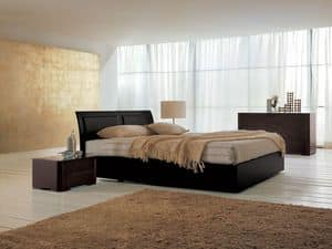 Picture of Memory bed, leather beds
