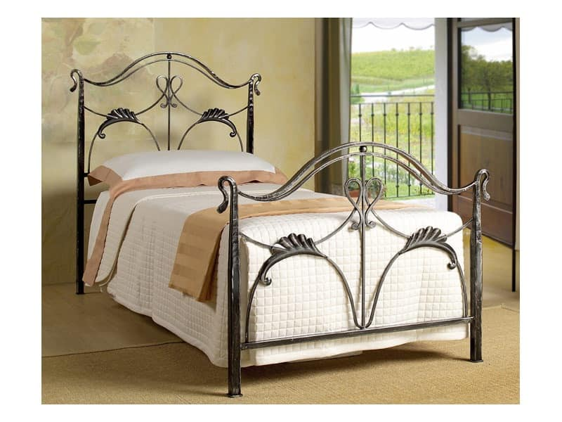 Single Bed In Art Nouveau Style For Residential Use