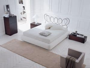 Picture of Paris bed, leather upholstered beds