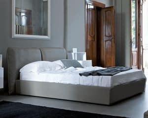 Plume, Bed with soft headboard, single or double