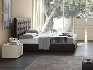 Picture of Priv� bed, elegant leather beds