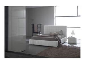 Picture of Scacco bed, beds with upholstered bedframe