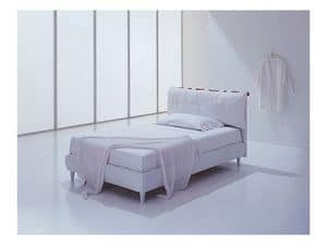 Picture of Siviglia single, bed in hand-sewn leather