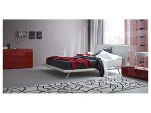 Picture of Space bed, leather covered bed
