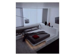 Picture of Square Bed Easy Collection, inlayed bed