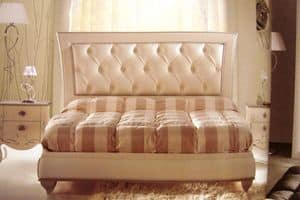 Turandot, Double bed for bedrooms, classic, tufted