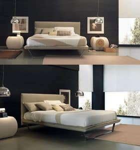 Picture of Vola, bed with upholstered headboard or footboard