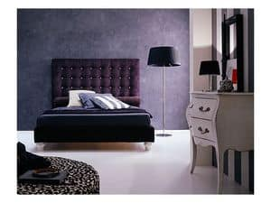 Picture of Zen, bed with upholstered headboard