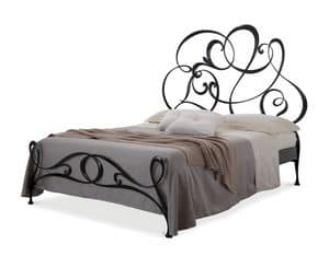 Picture of Gabriel bed, wrought iron bed with curls