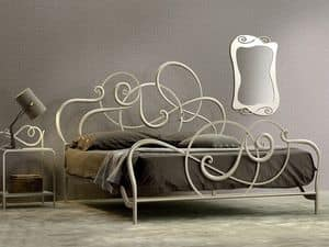Picture of Jazz double bed, hand worked wrought iron bed