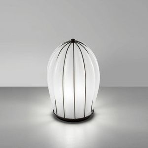 Salice Rt429-030, Table lamp in white glass, hand-blown.