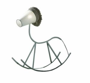 Yahoo F8635B, Rocking horse lamp in metal and linen