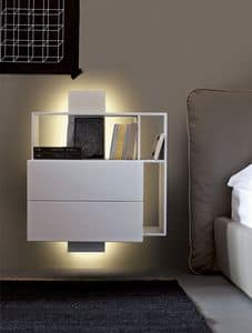 Picture of Contatto nightstand, storing small unit