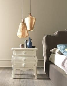 Picture of Roses nightstand, elegant bedside tables