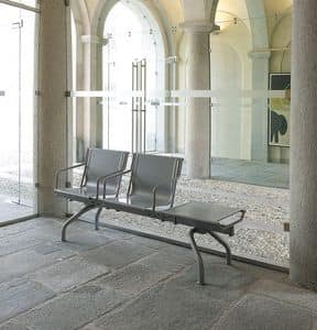 Pitagora bench, Bench in steel sheet painted in various colors