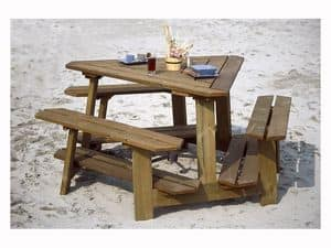 Picture of BEACH SET, table and bench