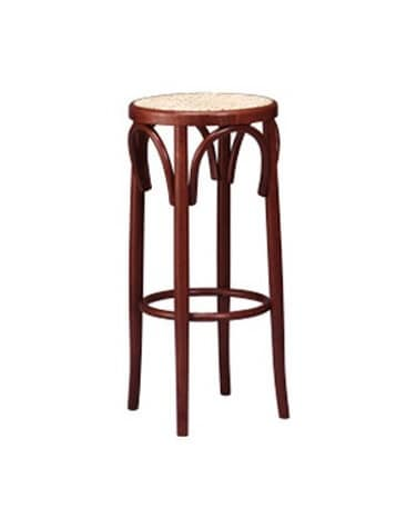124, Stool in Viennese style, cane seat, for restaurant