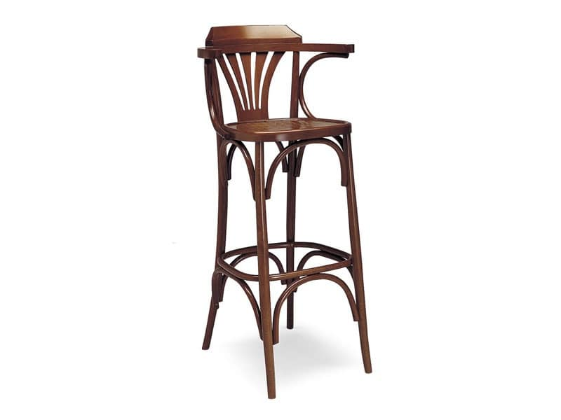 702, Stool with fixed height, entirely made of wood