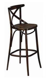 Croce-SG, Stool with cross backrest
