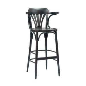 Katrin barstool, Stool in worked wood for saloons and tavern