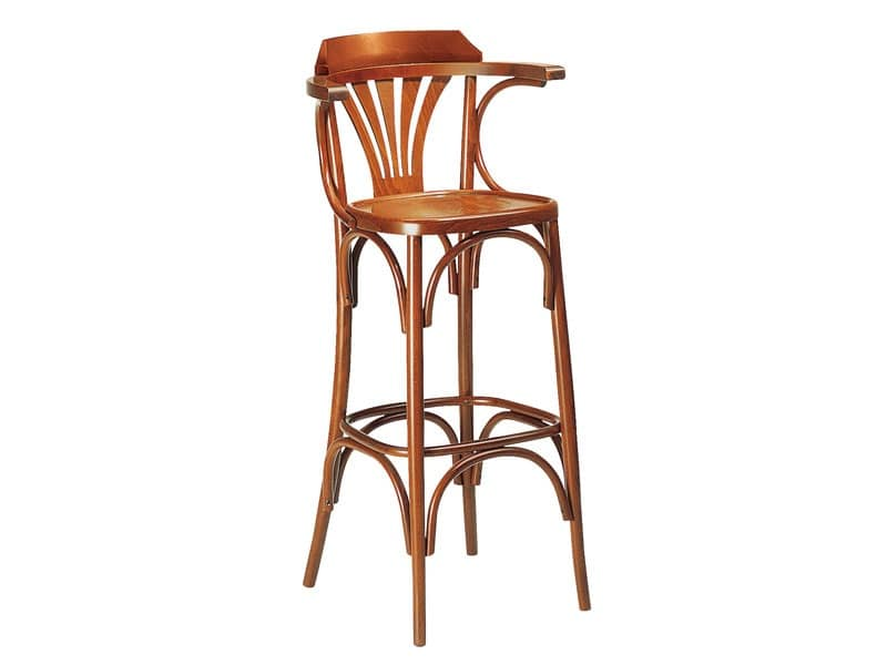 Tall stool made of wood for bars pubs and restaurants  : sg 600 barstool with bent backrest from www.idfdesign.com size 800 x 600 jpeg 20kB