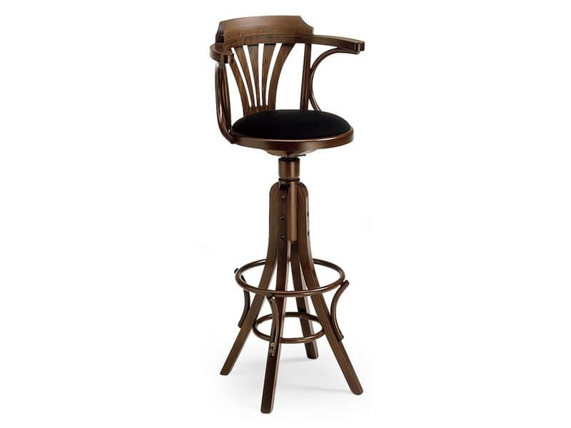 SG600/G, Stool made of curved wood for bars and pubs