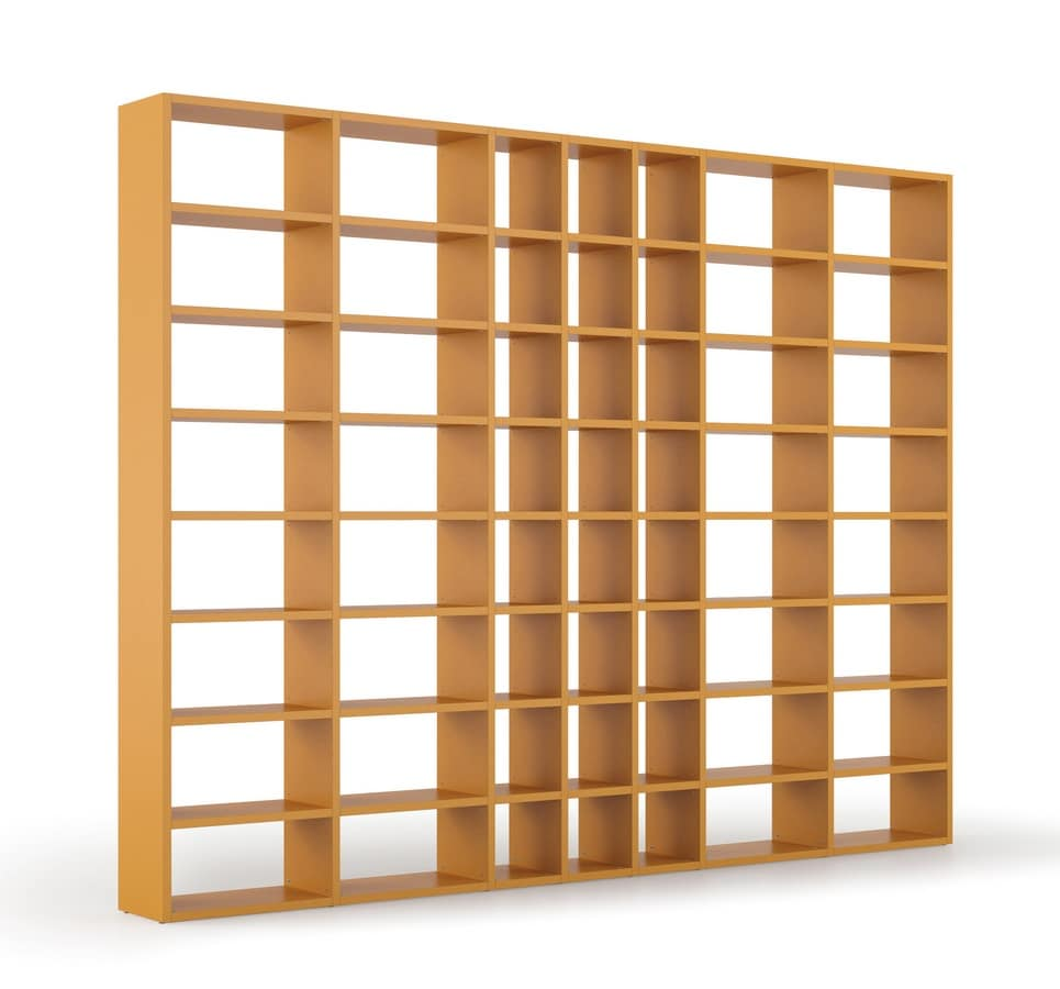 Closet with shelves customizable sizes and colors idfdesign for Letter shaped shelves