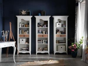 Art. AX402, Bookcase with drawer, with Provencal style