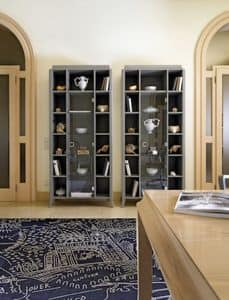 Art. VL418, Bookcase with glass door, contemporary classic style