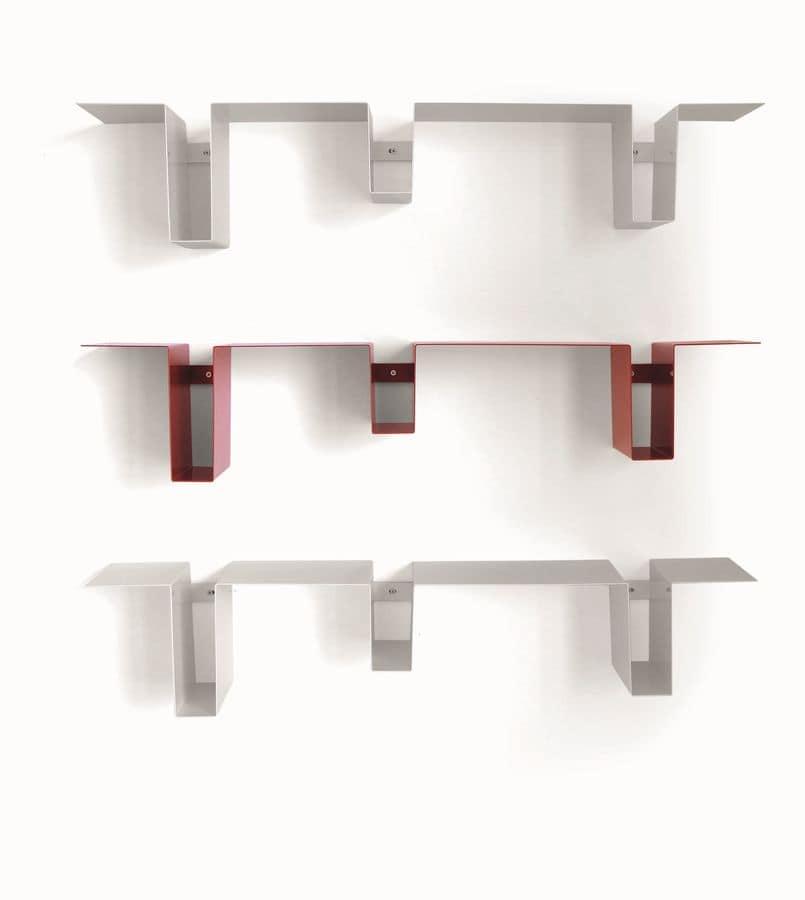 Wall Shelves Painted Steel For Living Room Idfdesign