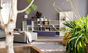 Citylife 31, Modular bookcase suited for modern living rooms