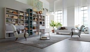 Citylife 35, Modular bookcase suited for residential environments