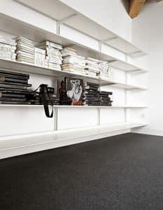 Dot System, Modular design bookcase, in durable aluminum