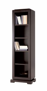 Downtown bookcase, Wooden bookcase with adjustable shelves
