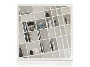 Giano Kompact, Libraries white lacquered, modern and elegant, for living rooms