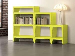 Herbert, Modular bookcase ideal for modern living rooms