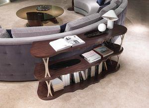 LB45 Mistral, Retro sofa bookshelf, with curved shelves