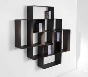 Picture of Mondrian comp. 02B, bookshelves
