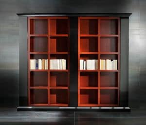 Museum Art. 31.002, Bookcase in lacquered linden with 3 columns