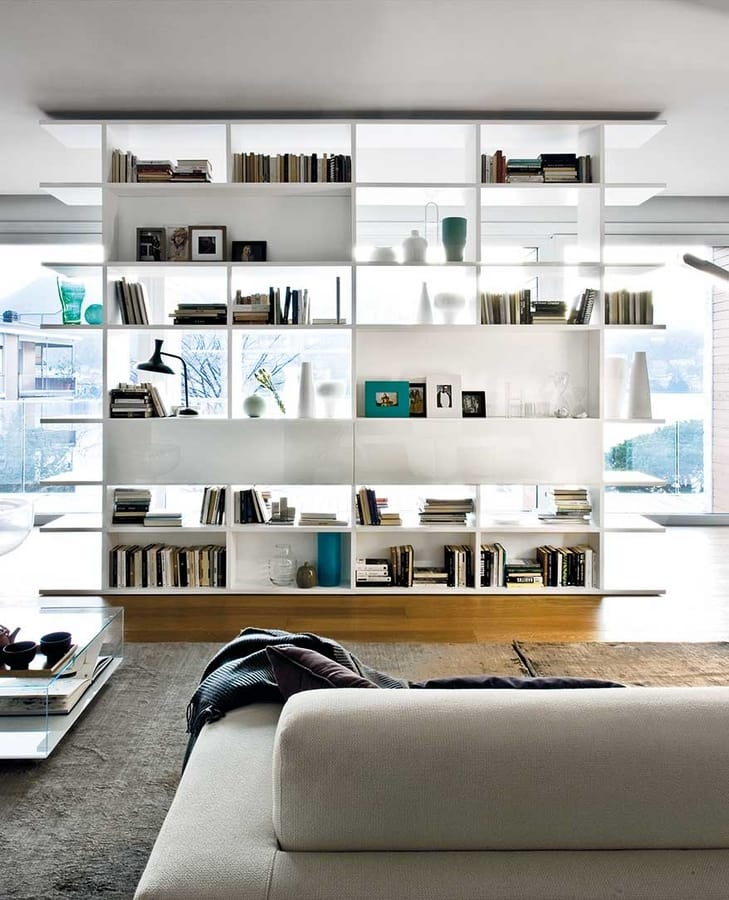 Shelving with two sides, for modern lounges and offices | IDFdesign