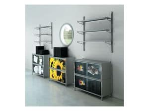 Picture of Socrate customizable panels, shelving unit