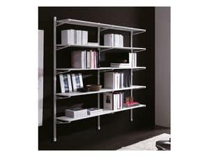 Picture of Socrate white wall, elegant bookcases