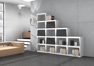 Victoria, Modular shelving in various sizes and colors