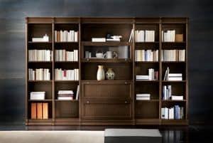 Victoria Art. 03.006, Modular bookcase in oak, for contemporary living room