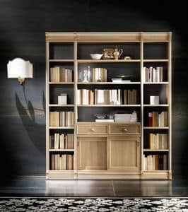 Victoria Art. 03.008, Bookcase with drawer and two sliding doors