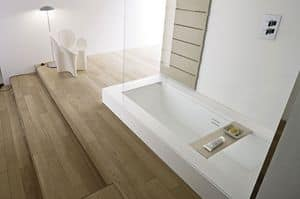 Picture of BATHTUB SHOWER half buit-in, modern bathtub